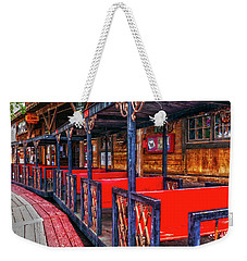 Train In Amusement Park Weekender Tote Bag