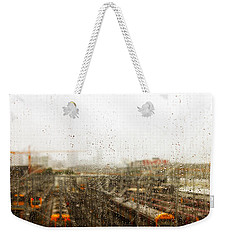 Train In The Rain Weekender Tote Bag