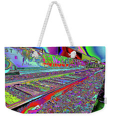 Train On The Color Plain Weekender Tote Bag