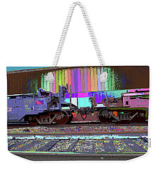 Train Parked Weekender Tote Bag