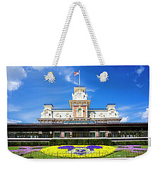 Weekender Tote Bag featuring the photograph Train Station by Greg Fortier