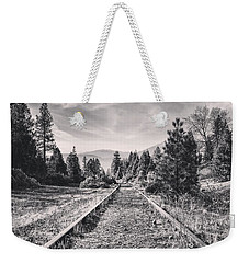 Train Tracks Weekender Tote Bag