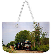 Trains On The Track-1 Weekender Tote Bag