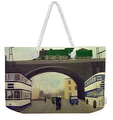 1950s Tram, Locomotive, Bus And Cars In Sheffield  Weekender Tote Bag