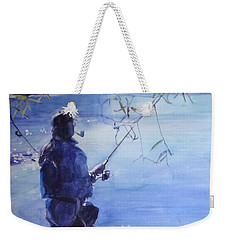 Watercolor Tranquil Fishing Weekender Tote Bag