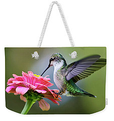 Tranquil Joy Hummingbird Square Weekender Tote Bag