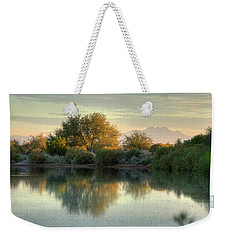 Tranquil Morning At The Lake Weekender Tote Bag