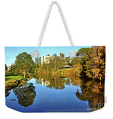 Weekender Tote Bag featuring the photograph Tranquil River By Kaye Menner by Kaye Menner