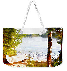 Tranquil River Weekender Tote Bag by Shirley Stalter