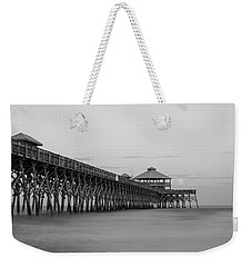 Tranquility At Folly Grayscale Weekender Tote Bag