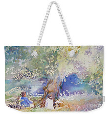 Tranquility At The Brandywine River Weekender Tote Bag by Mary Haley-Rocks