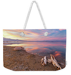 Weekender Tote Bag featuring the photograph Tranquility by Tassanee Angiolillo