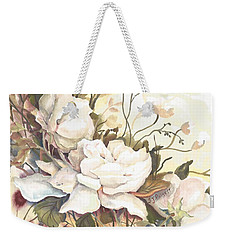 Tranquility Study In White Weekender Tote Bag