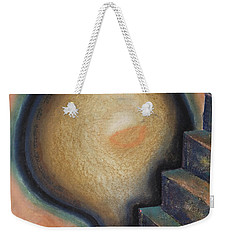 Weekender Tote Bag featuring the painting Transcendence by Mini Arora