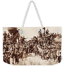 Transcontinental Railroad - Golden Spike Ceremony Weekender Tote Bag
