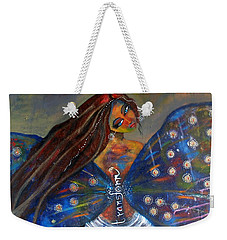 Weekender Tote Bag featuring the painting Transform by Prerna Poojara