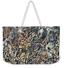 Weekender Tote Bag featuring the mixed media Transformation by Joanne Smoley