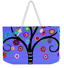 Weekender Tote Bag featuring the painting Transformation Tree Of Life by Pristine Cartera Turkus