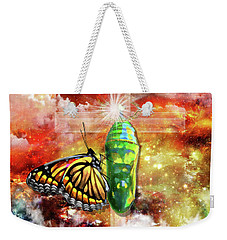 Weekender Tote Bag featuring the digital art Transformed By The Truth by Dolores Develde