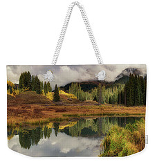 Weekender Tote Bag featuring the photograph Transition by OLena Art Brand