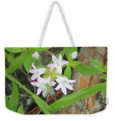 Transparent Flowers Weekender Tote Bag