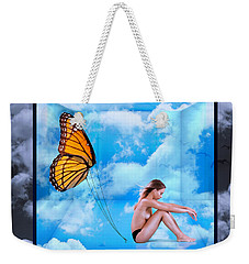 Trapped Butterfly Weekender Tote Bag