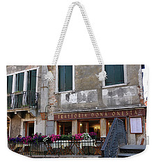 Trattoria Dona Onesta In Venice, Italy Weekender Tote Bag