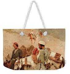 Traveling In Persia Weekender Tote Bag by Edwin Lord Weeks