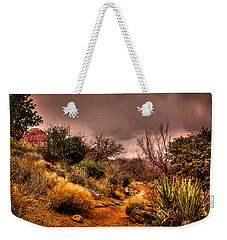 Traveling The Trail At Red Rocks Canyon Weekender Tote Bag