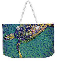 Travis The Turtle Weekender Tote Bag by Erika Swartzkopf