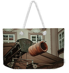 Weekender Tote Bag featuring the photograph Trdelnik. Prague Architecture by Jenny Rainbow
