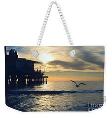 Seagull Pier Sunrise Seascape C1 Weekender Tote Bag