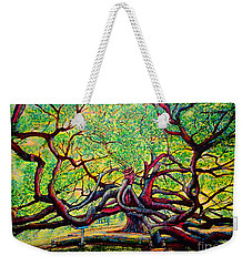 Weekender Tote Bag featuring the painting Treaty Oak by Viktor Lazarev