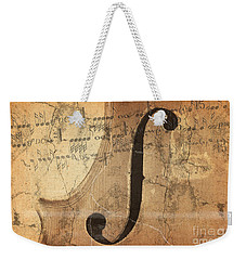 Treble Clef Weekender Tote Bag