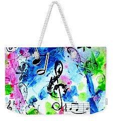 Weekender Tote Bag featuring the mixed media Treble Mp by Genevieve Esson