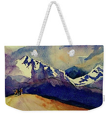 Trecking Weekender Tote Bag by Annie Poitras