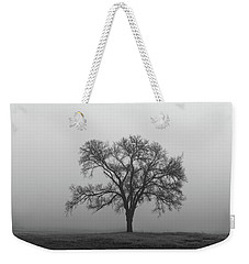 Tree Alone In The Fog Weekender Tote Bag