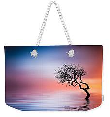 Tree At Lake Weekender Tote Bag by Bess Hamiti
