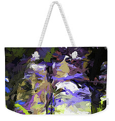 Tree Avenue Lavender Lilac Green Weekender Tote Bag
