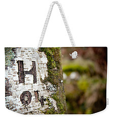 Tree Bark Graffiti - H 04 Weekender Tote Bag