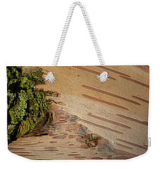 Tree Bark With Lichen Weekender Tote Bag by Margaret Brooks