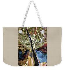 Tree Bent By Wind Weekender Tote Bag