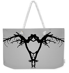Weekender Tote Bag featuring the photograph Tree Bird I Bw by David Gordon