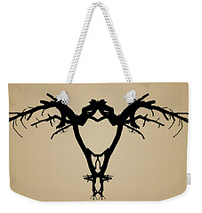 Weekender Tote Bag featuring the photograph Tree Bird Toned by David Gordon