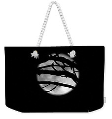 Tree Branch Cover Over The Super Moon Weekender Tote Bag