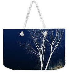 Weekender Tote Bag featuring the photograph Tree By Stream by Stuart Turnbull