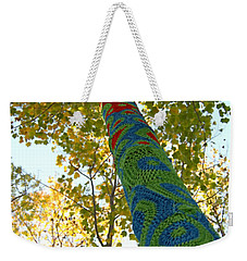 Tree Crochet Weekender Tote Bag