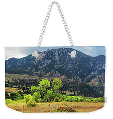 Weekender Tote Bag featuring the photograph Tree Drama by Marilyn Hunt