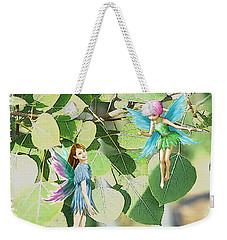 Tree Fairies Among The Quaking Aspen Leaves Weekender Tote Bag