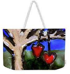 Weekender Tote Bag featuring the painting Tree Hearts by Genevieve Esson